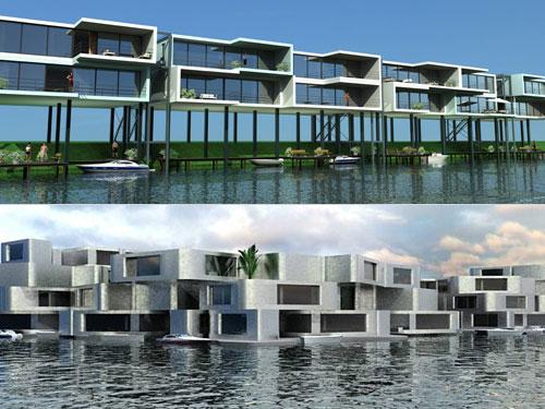 perierga.gr - Το πρώτο πλωτό συγκρότημα διαμερισμάτων στον κόσμο!