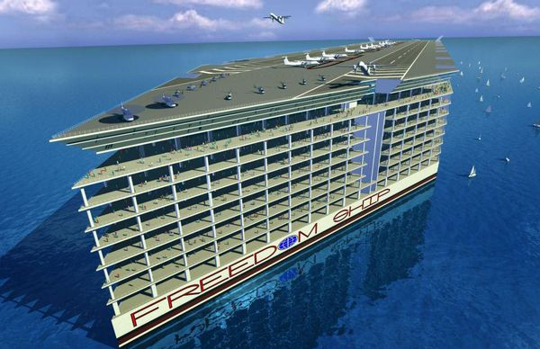 Perierga.gr - Το πλοίο της Ελευθερίας: Μια πλωτή πολιτεία!