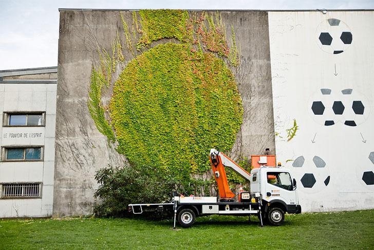 perierga.gr - «Πράσινο» γκράφιτι σε τοίχο της πόλης!
