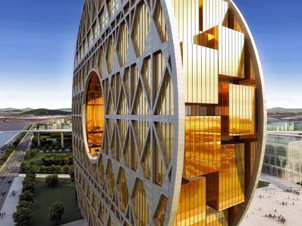 perierga.gr - Παράξενο κτήριο σε σχήμα... νομίσματος!