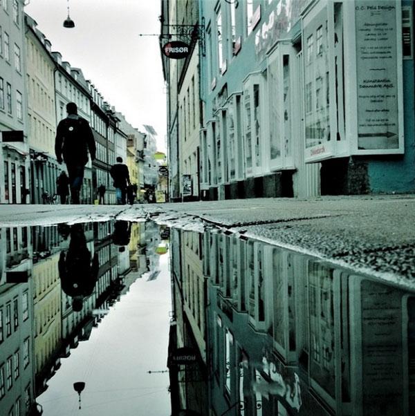 """perierga.gr - Υδάτινες αντανακλάσεις """"αναποδογυρίζουν"""" την Κοπεγχάγη!"""