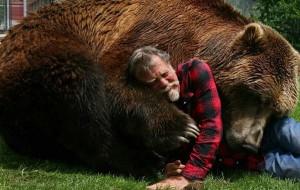 perierga.gr - Αρκούδα κάνει... παιχνίδια με τον εκπαιδευτή της! (βίντεο)