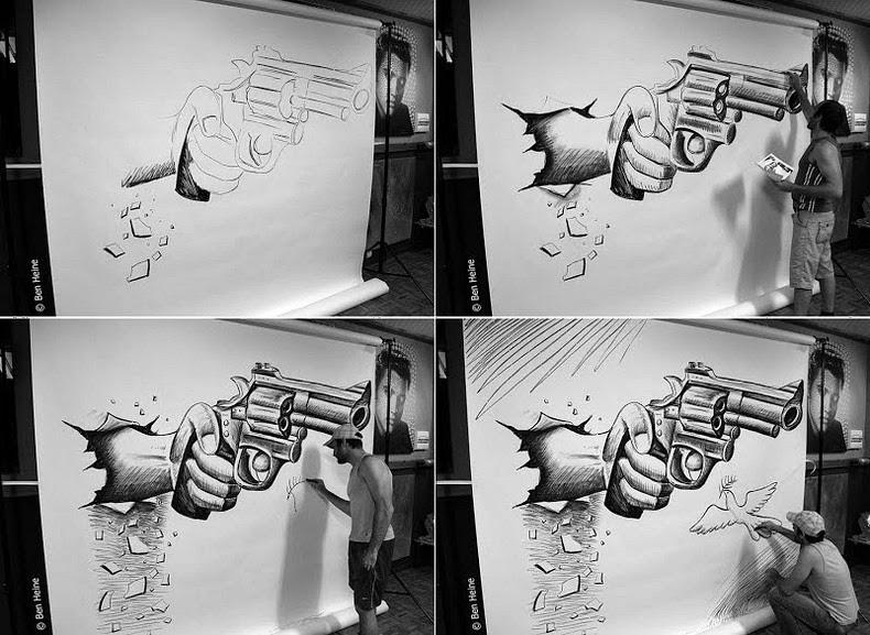 perierga.gr - Εκπληκτικά σκίτσα με μολύβι… ξεπηδούν από τον καμβά!
