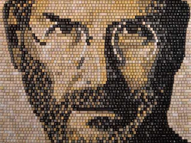 perierga.gr - Πορτρέτο του Στιβ Τζομπς από 5.892 πλήκτρα!