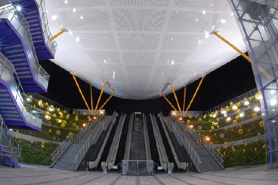 perierga.gr - Σταθμός του Μετρό... ανθίζει στην Ταϊβάν!