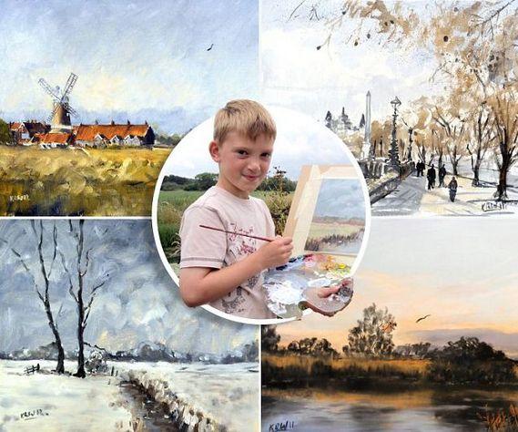 "perierga.gr - 11χρονος ""Μονέ"" εκπλήσσει με τους πίνακές του!"