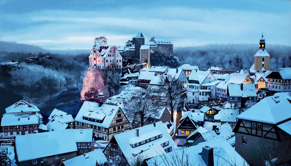 Πανέμορφα χιονισμένα χωριά στον κόσμο!