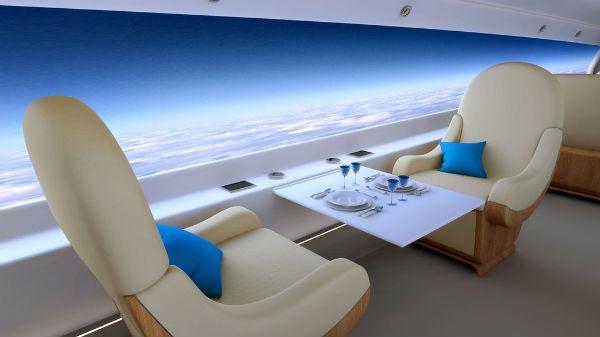 Perierga.gr - Υπερηχητικό επιβατικό αεροσκάφος με εκπληκτική θέα!