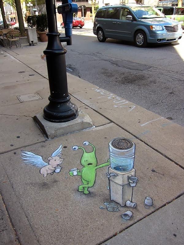 perierga.gr - Πρωτότυπη τέχνη του δρόμου με... κιμωλία!