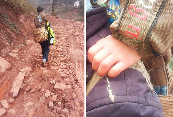 perierga.gr - Μπαμπάς ήρωας: Κουβαλά τον γιο του στην πλάτη 30 χιλιόμετρα!