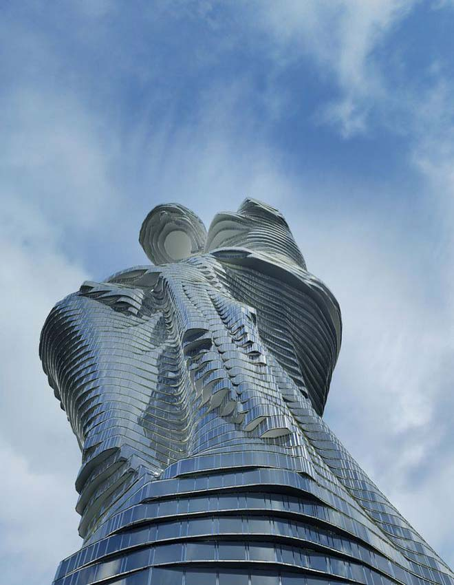 Perierga.gr - Εντυπωσιακός ουρανοξύστης με... ελληνικό χαρακτήρα