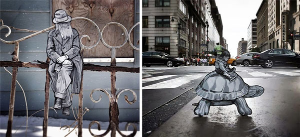 perierga.gr - Μικρές ξύλινες φιγούρες στους δρόμους της πόλης!