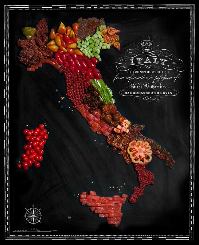 perierga.gr - Χάρτες φτιαγμένοι από τρόφιμα των χωρών που απεικονίζουν!