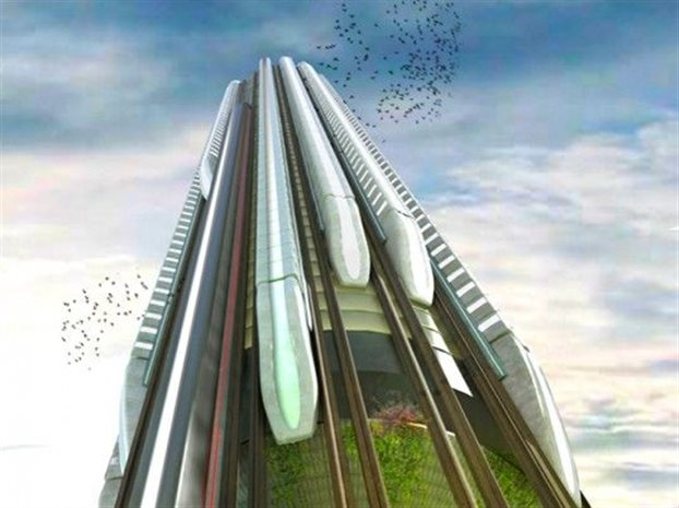 perierga.gr - Κατακόρυφο τρένο για… ουρανοξύστες!