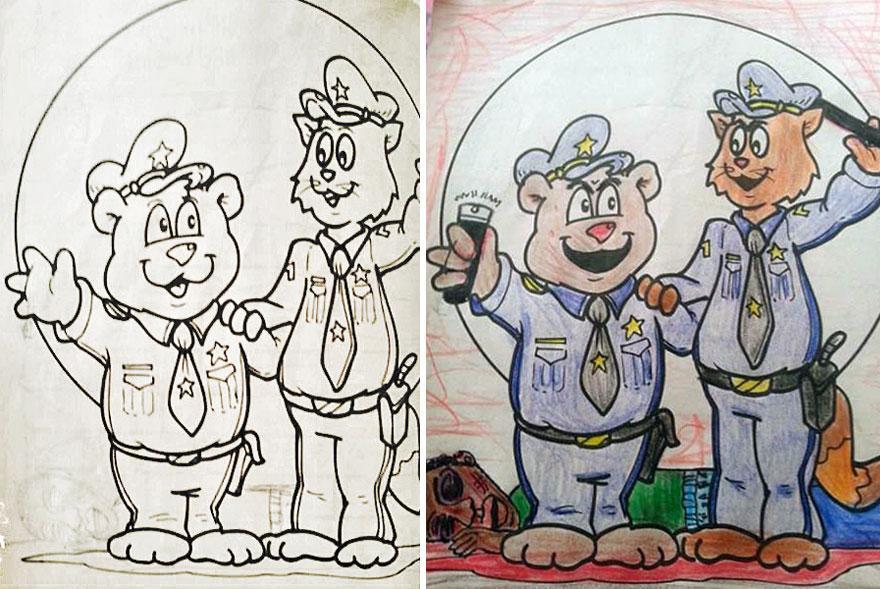 perierga.gr - Τι συμβαίνει όταν οι ενήλικες ζωγραφίζουν παιδικές εικόνες!