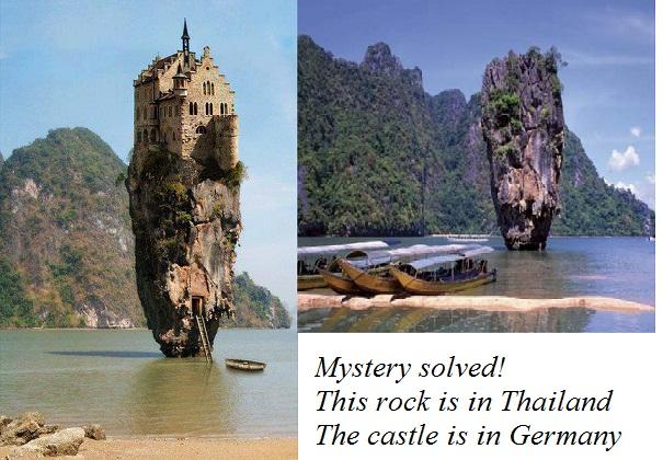 Ένα κάστρο χτισμένο πάνω σε βράχο στο