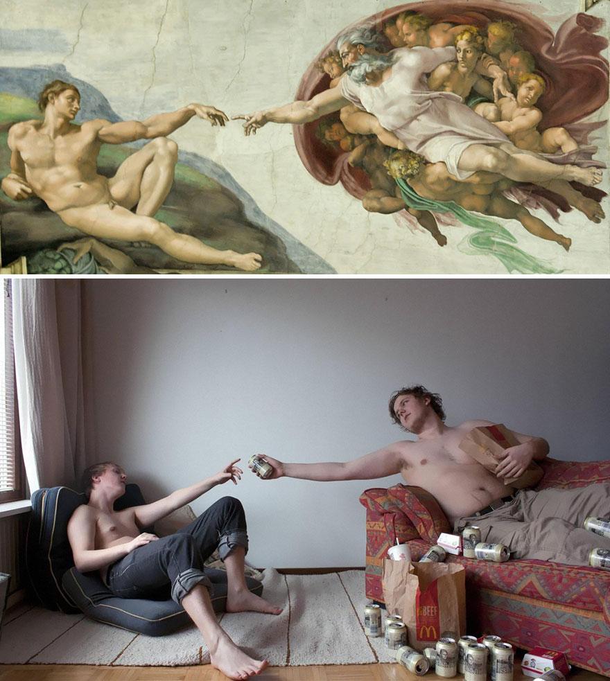 perierga.gr - 20 κλασικοί πίνακες ζωγραφικής αναδημιουργούνται στο φακό!