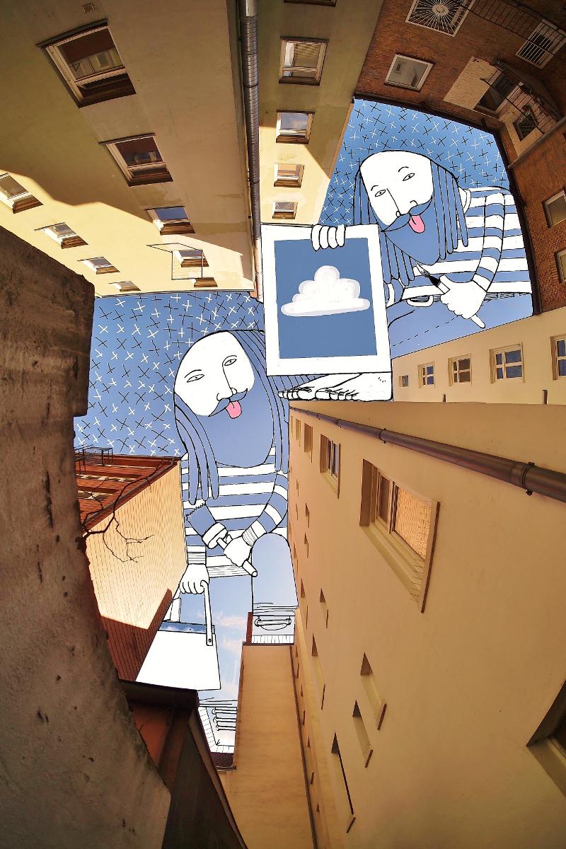 perierga.gr - Καλλιτέχνης χρησιμοποιεί τον... ουρανό ως καμβά!