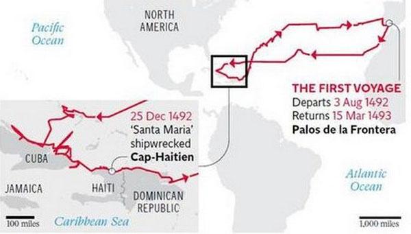 Perierga.gr - Βρέθηκε το ναυαγισμένο πλοίο του Κολόμβου;