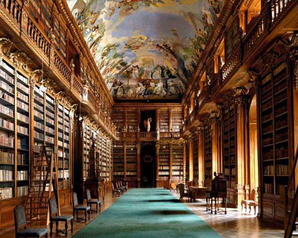 perierga.gr - Strahov: Βιβλιοθήκη-κομψοτέχνημα στην Πράγα!
