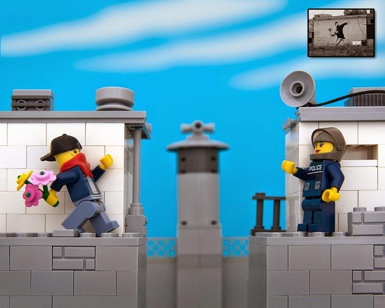 perierga.gr - Τέχνη του δρόμου με... Lego!