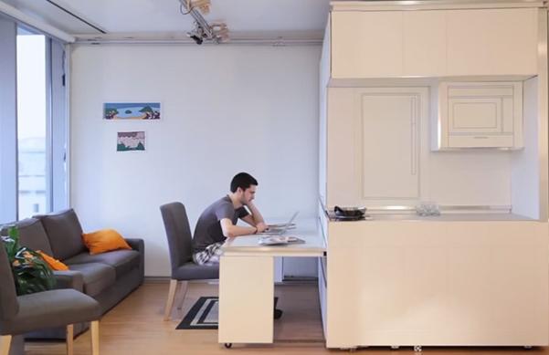 Perierga.gr - Το διαμέρισμα του μέλλοντος θα τα έχει όλα σε 18 τμ