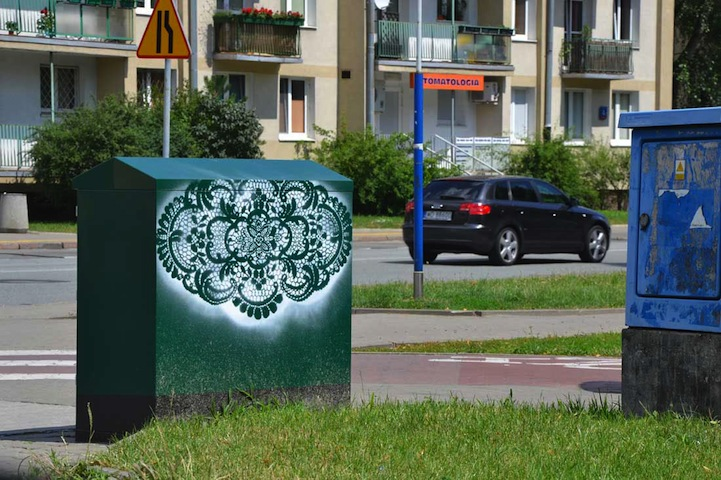 perierga.gr - Δαντελένια μοτίβα… γέμισαν τους δρόμους!