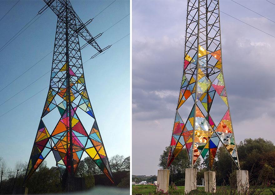 perierga.gr - Ηλεκτρικοί πύργοι γίνονται… βιτρό έργα Τέχνης!