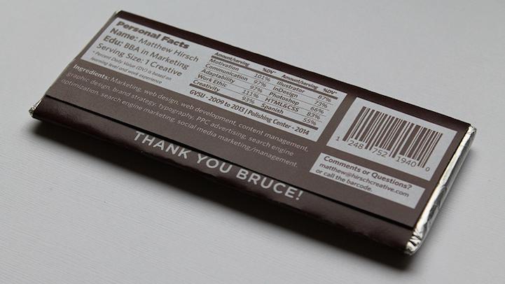 perierga.gr - Βιογραφικό πάνω σε... σοκολάτα!