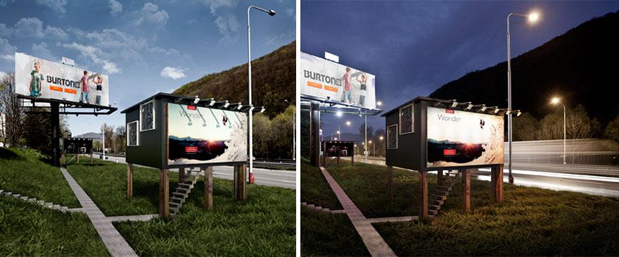 perierga.gr - Πινακίδες των δρόμων γίνονται σπίτια για αστέγους!