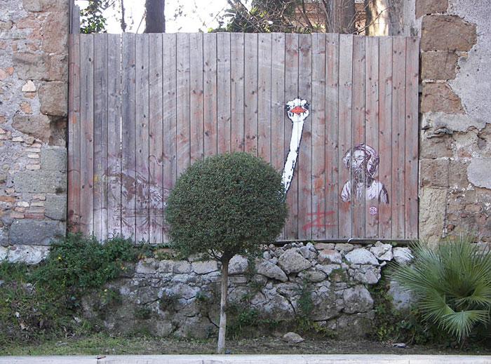 perierga.gr - 20+1 γκράφιτι αλληλεπιδρούν με τη φύση!
