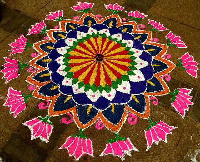 perierga.gr - Χειροποίητα έργα Τέχνης από πολύχρωμο ρύζι & αλεύρι!