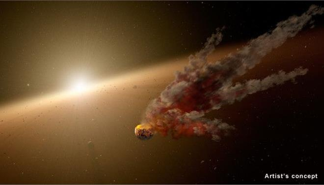 Perierga.gr - «Καραμπόλα» αστεροειδών γύρω από μακρινό άστρο