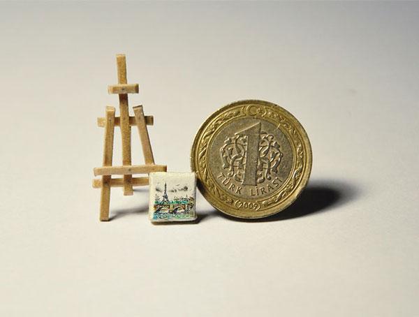perierga.gr - Ζωγραφική σε πολύ μικρά... αναπάντεχα αντικείμενα!
