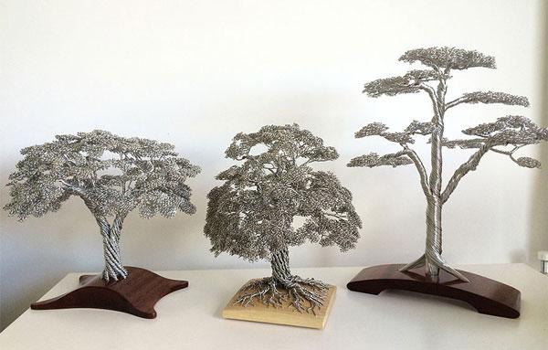 perierga.gr - Μικρογραφίες δέντρων από σύρμα