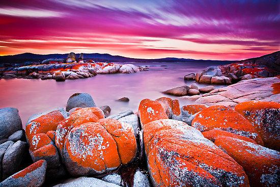 perierga.gr - Η παραλία της φωτιάς στην Τασμανία!