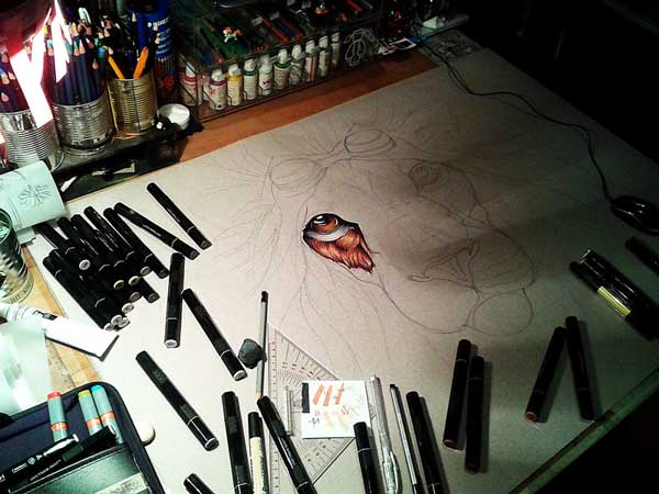 perierga.gr - Bήμα-βήμα από το κενό χαρτί σε μια λεπτομερή ζωγραφιά!