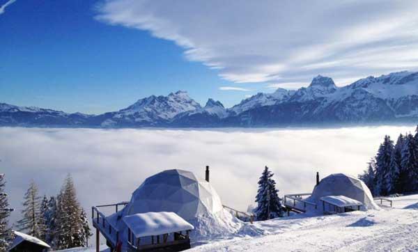 perierga.gr - Χειμερινό glamping στα χιόνια!