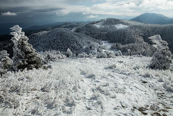 Perierga.gr - Βουνό μετατρέπεται από το ψύχος σε... βασίλειο των πάγων!