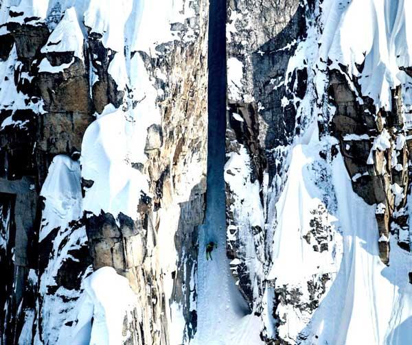 perierga.gr - Η πιο επικίνδυνη κατάβαση σκι!
