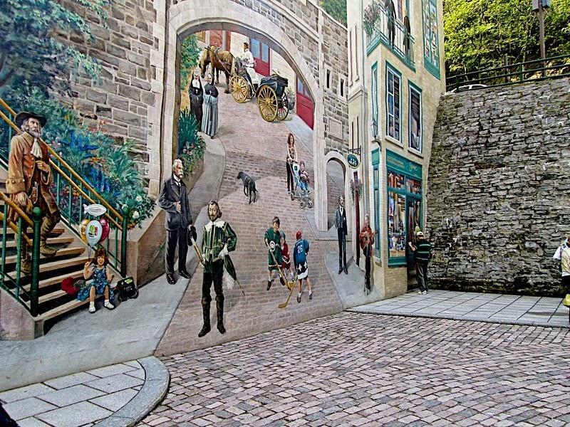 perierga.gr - Eκπληκτικές τοιχογραφίες στους δρόμους του Κεμπέκ!