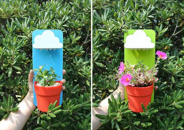 perierga.gr - Γλάστρες… βρέχουν τα φυτά!