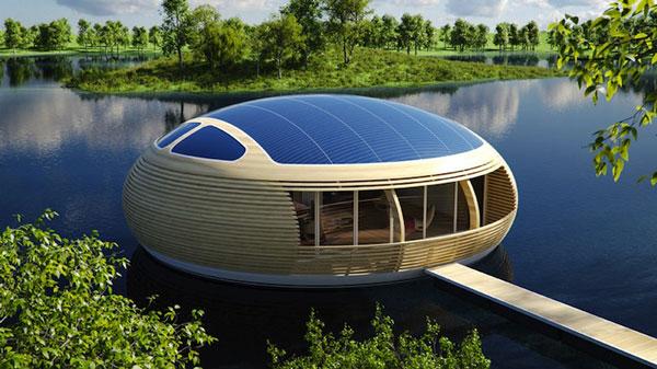 perierga.gr - Πλωτό σπίτι μοιάζει με φωλιά στο νερό!