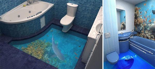 perierga.gr - 3D τεχνολογία μετατρέπει τα δάπεδα σε… ωκεανούς!