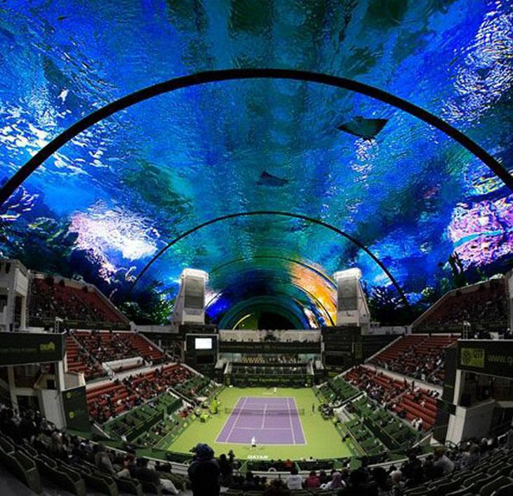 perierga.gr - Υποβρύχιο γήπεδο τένις στο Ντουμπάι!