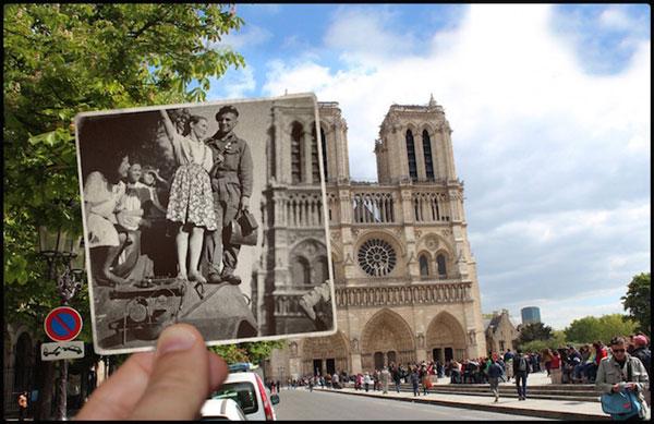 perierga.gr - Το Παρίσι τον Β΄ Παγκόσμιο Πόλεμο & σήμερα στα ίδια σημεία!