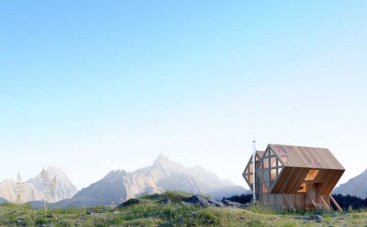 perierga.gr - Ασύμμετρη κατοικία εμπνέεται από το φυσικό περιβάλλον