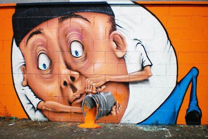 "perierga.gr - ""Έξυπνη"" τέχνη του δρόμου αλληλεπιδρά με το περιβάλλον!"