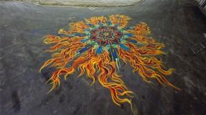 perierga.gr - Ζωγραφίζοντας με άμμο μπροστά στην κάμερα!