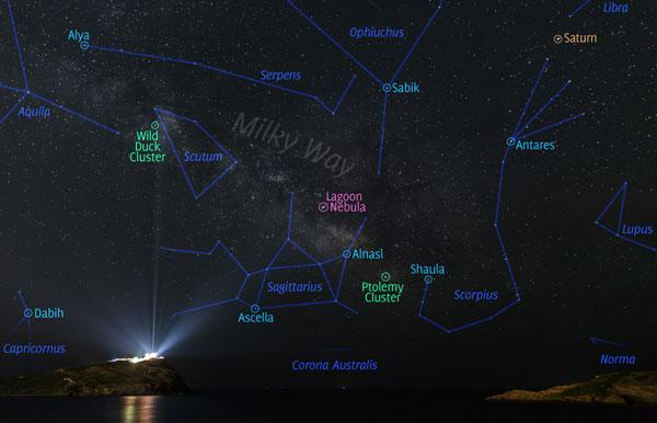 perierga.gr - Ο Γαλαξίας πάνω από το Ναό του Ποσειδώνα στο Σούνιο!